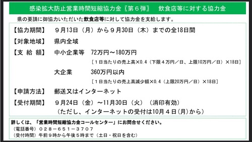 【栃木県 新型コロナ対策/緊急事態宣言 延長へ…】期間:~9月30日(木)⑥