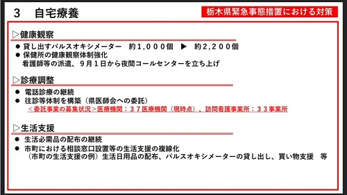 【栃木県 新型コロナ対策/緊急事態宣言 延長へ…】期間:~9月30日(木)⑫