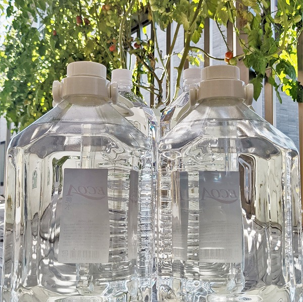 600水耕栽培と水の消費
