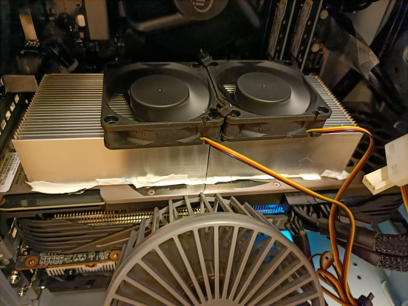 「RTX3080」を外から冷却