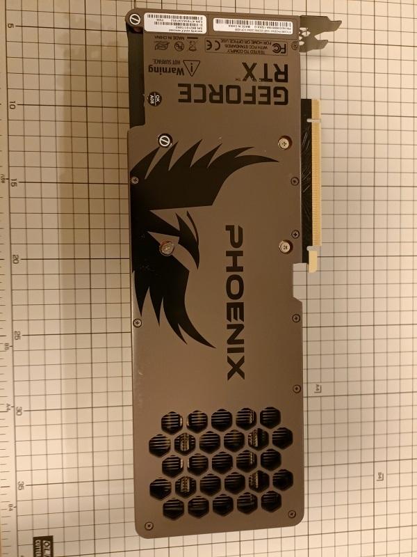 摘出した「RTX3080」Gainward製