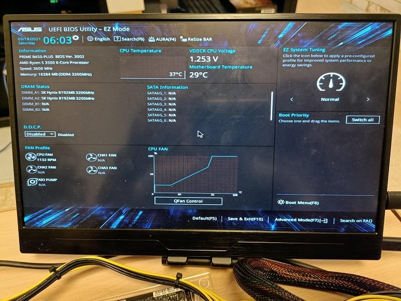BIOS画面が表示