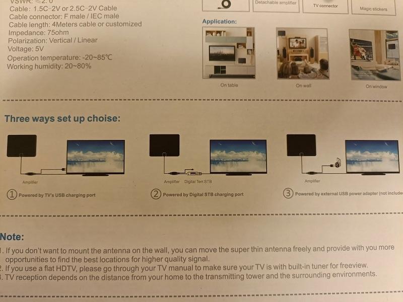 地デジアンテナ「Billing DIGITAL HDTV ANTENNA」設置方法