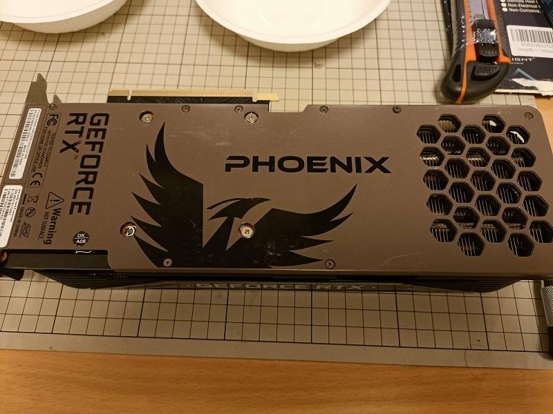 「Gainward RTX3080」バックパネル